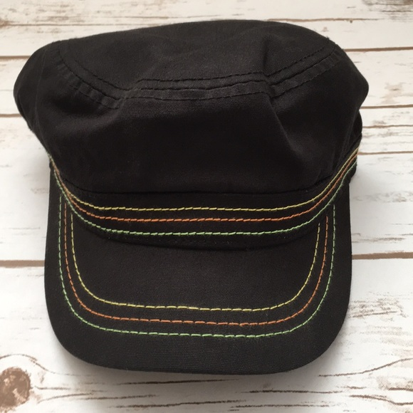 Pugs Gear Accessories - [Pugs Gear] Black Stitched Cadet Hat